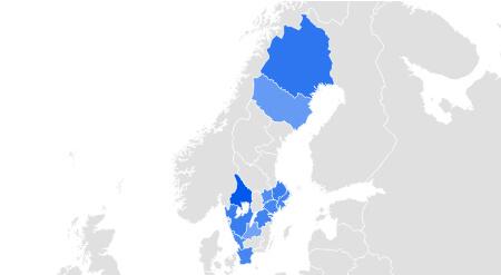 Karta Sverige sökvolym
